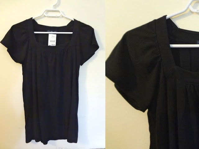 Black Gap short sleeved shirt, square neckline
