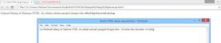 Contoh Kode HTML Yang di awali dengan Tag Pembuka dan diakhiri dengan Tag Penutup