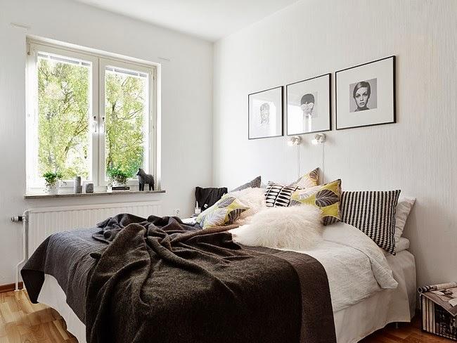 Pupurri de ideas de almacenamiento y contrastes n rdicos - Mensole sopra il letto ...