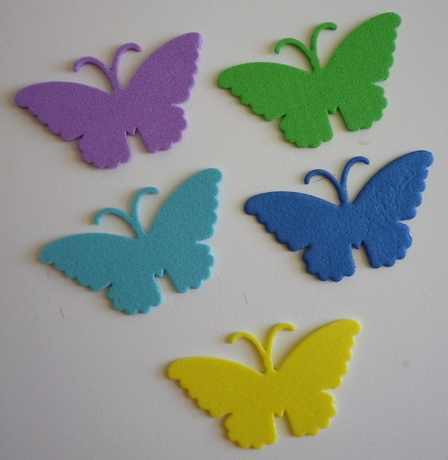 Las manualidades de ana victoria anaddaya mariposas - Como hacer mariposas de goma eva ...