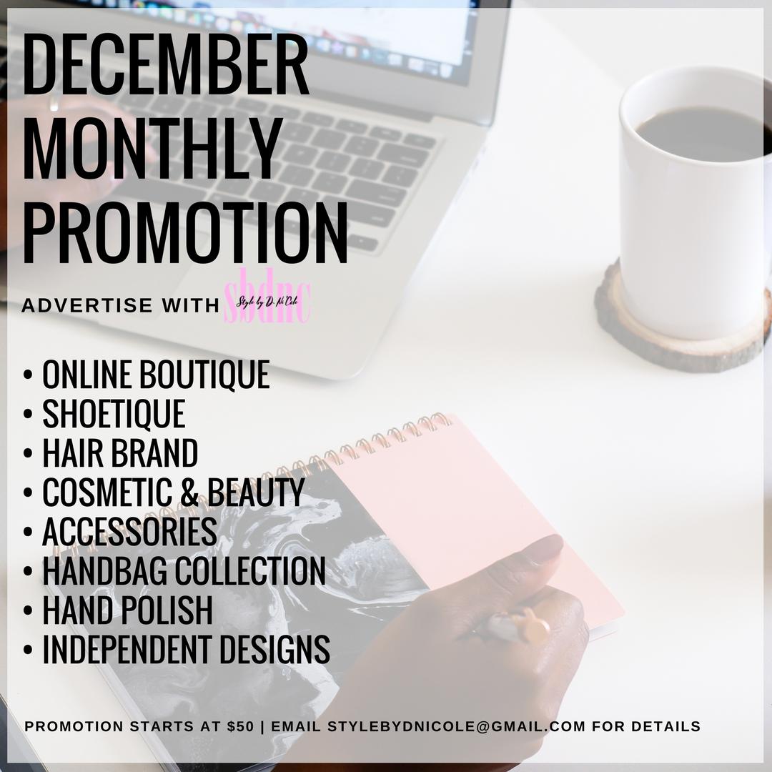 December Brand Promotion