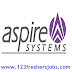 Aspire Systems Walkin Drive for B.E/B.Tech/MCA/M.Sc Freshers on 21st Feb 2015