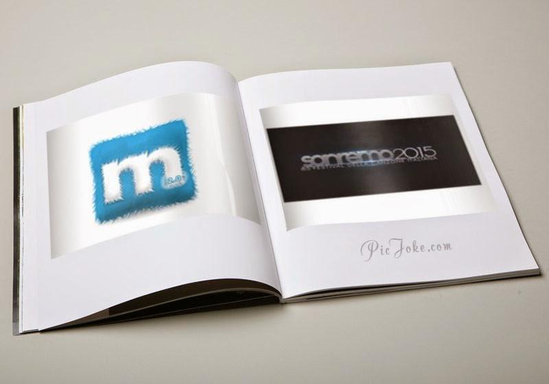 Logo Sanremo 2015 e Musicland su pagine libro aperto