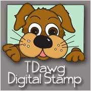 A cute 'Dawg' digital stamp