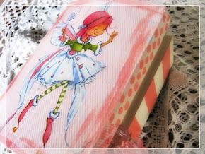 Kuferek Szkatułka dla Dziewczynki Księżniczki Wróżka Różowa Decoupage