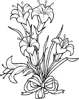 Desenhos Para Colorir Flores lindas