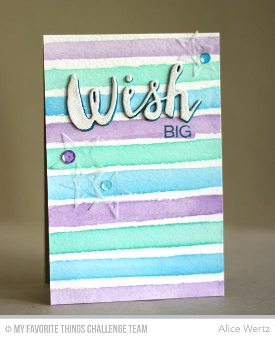 Wish Big Card by Alice Wertz featuring the Laina Lamb Designs Count the Stars stamp set and Lucky Stars and Stars & Wishes Die-namics #mftstamps