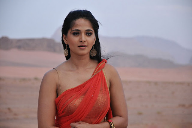 Anushka Hot Stills in Saree