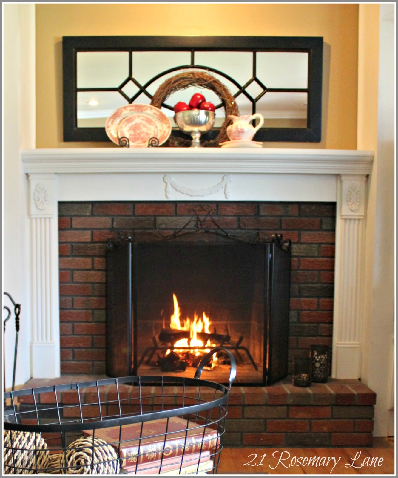 21 Rosemary Lane: Our New Fireplace Mantel ~ Thank You Mr ...