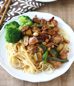 kung pao chicken noodles recipe