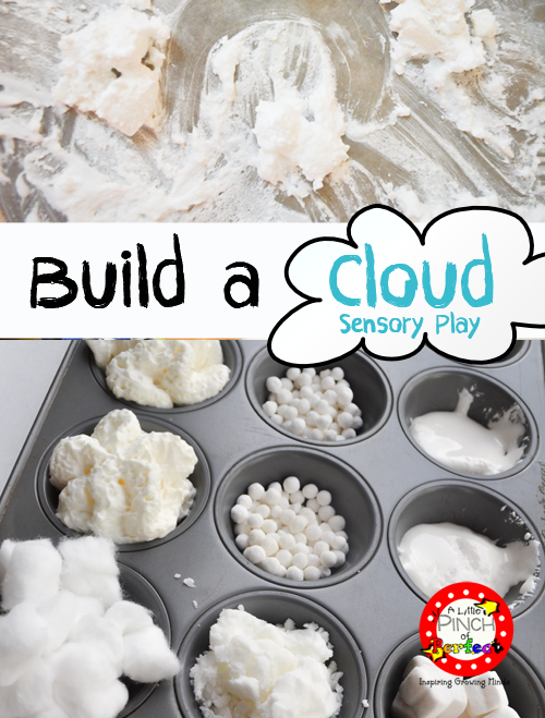 What fun! Build a Cloud Sensory Play from A Little Pinch of Perfect