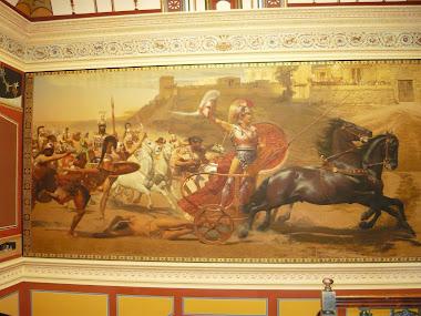scena uciderii lui Hector de catre Achile, Palatul Achillion, Corfu