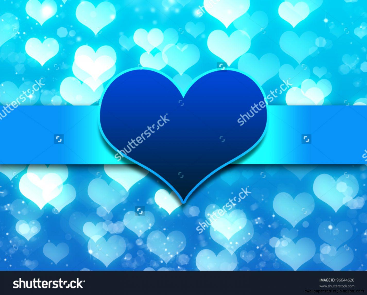 Blue Love Heart Background Stock Photo 96644620  Shutterstock