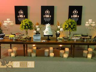 mesa, decoração, quadro lustre, expo noivas