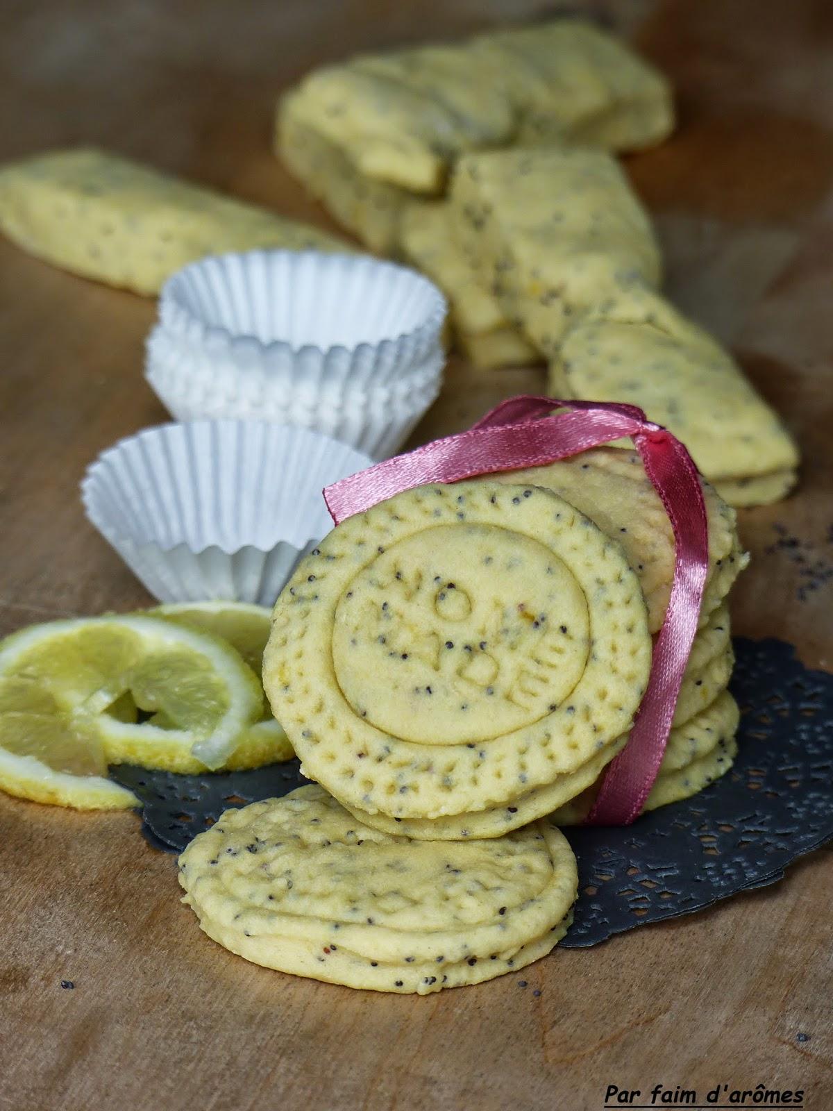 Sablés citron et graines de pavot