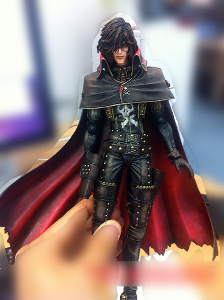 Square Enix Play Arts Kai Captain Harlock Figure