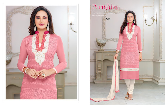 Buy Heavy Chanderi Cotton Dress Material