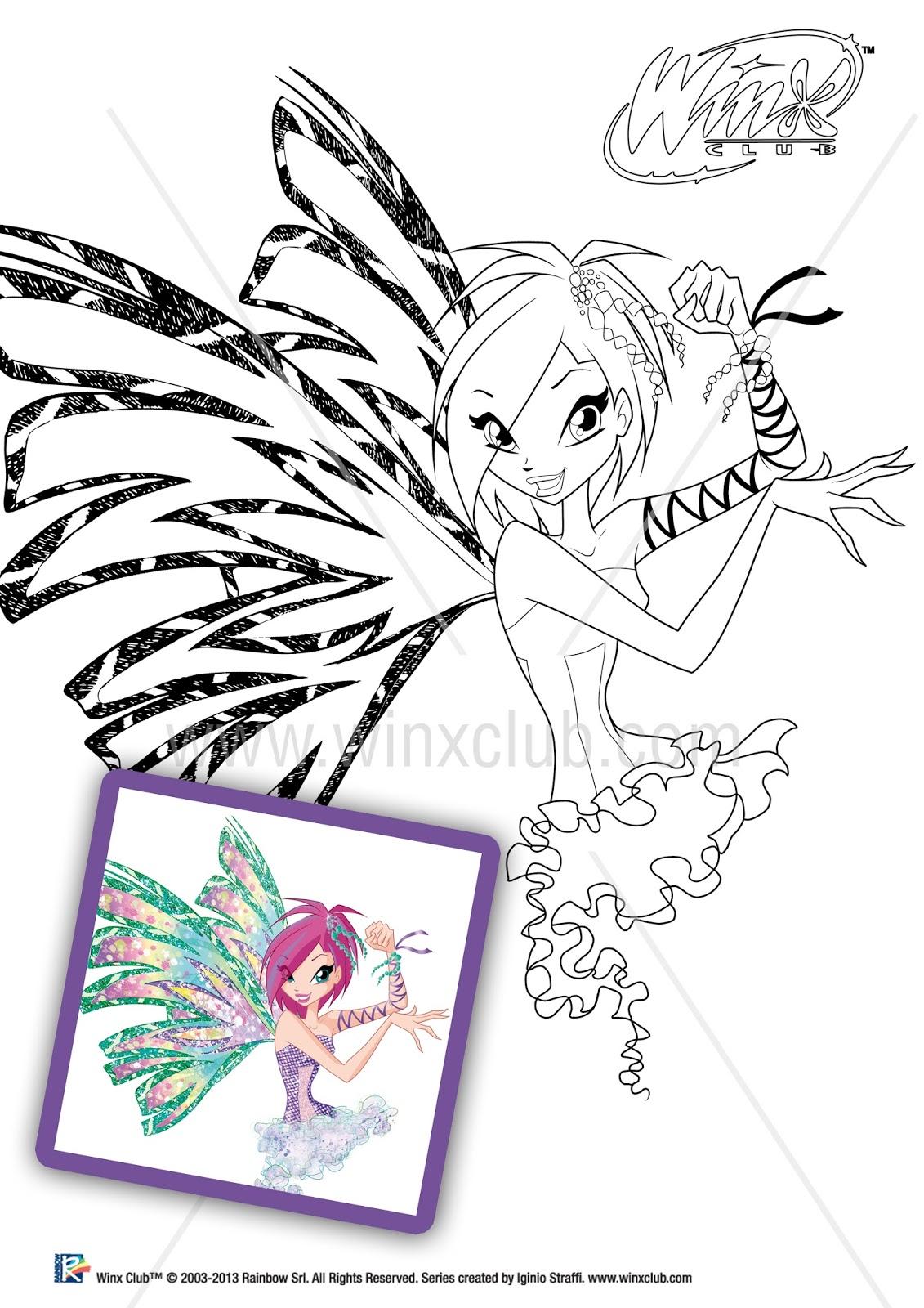 imagens para colorir das winx - Desenhos do CLUBE DAS WINX para colorir Hello Kids