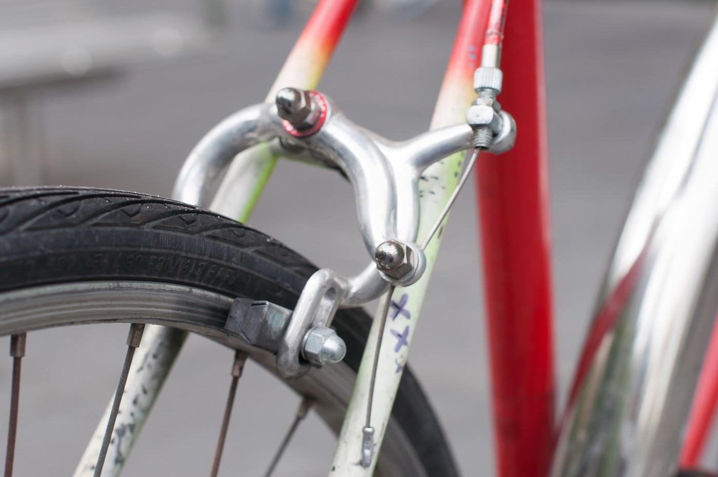 Pub bike, bike, bicycle, conversion, road bike, tim macauley, the biketorialist, Melbourne, Australia, swanston st, rear brake, side pull