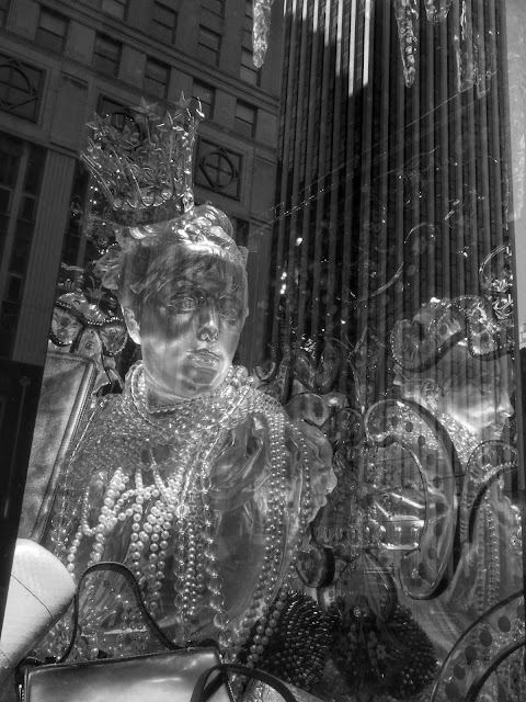 Silvery King of Mardi Gras #BGwindows #5thAvenueWindows NYC 2013