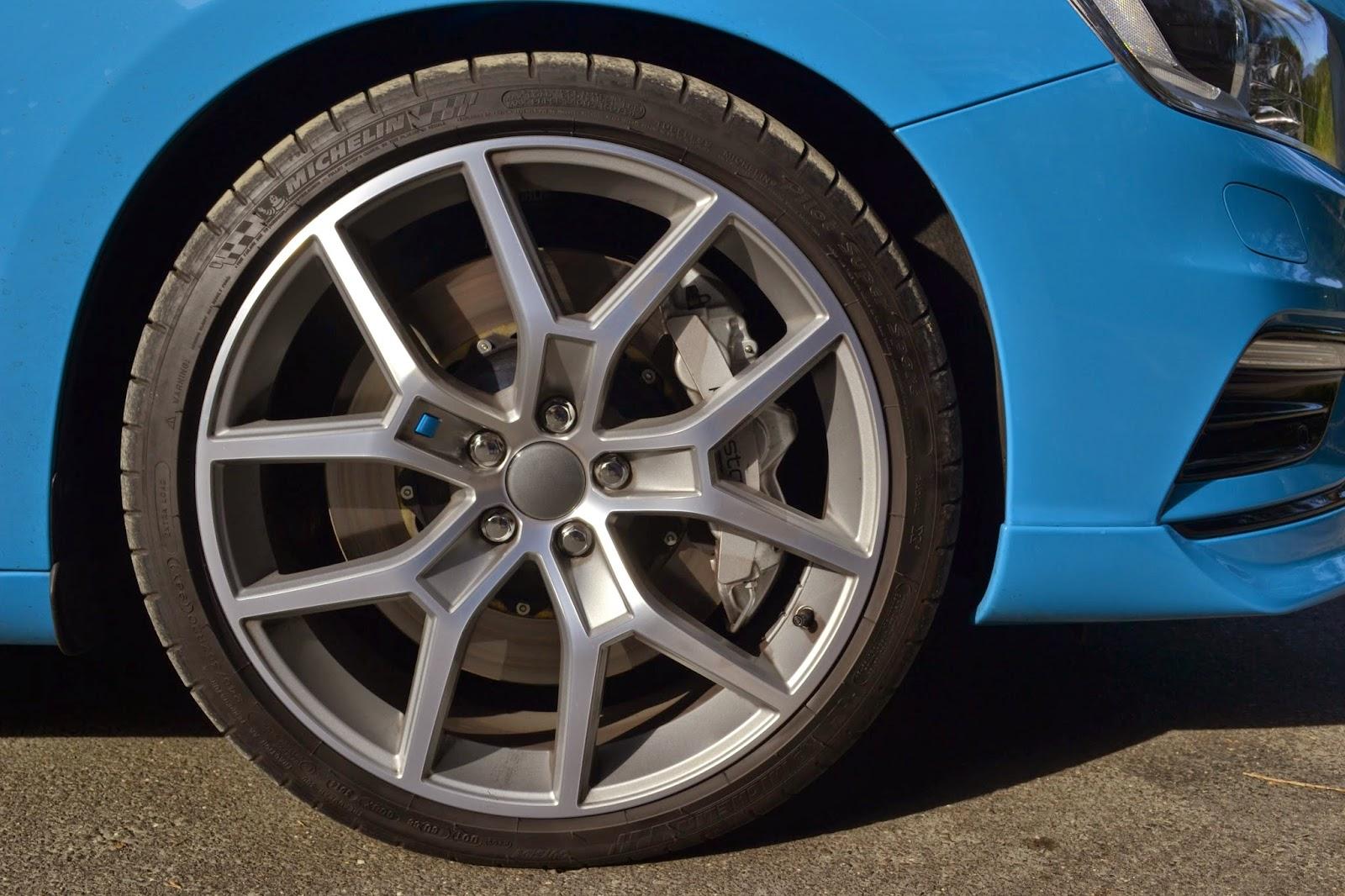 Michelin Pilot sport tyres on the Volvo v60 Polestar