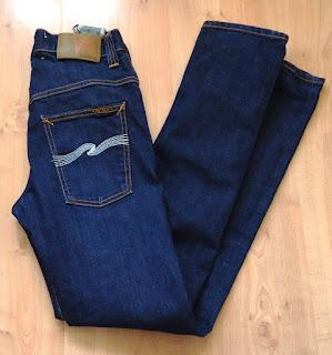 Nudie Jeans size W29 L32 Thin Finn Blue Skinny, Slim Short