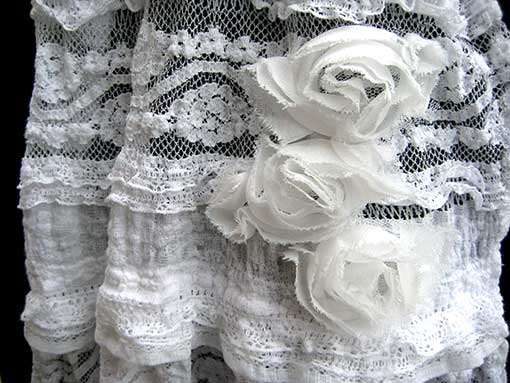 shabby chic scarf detail