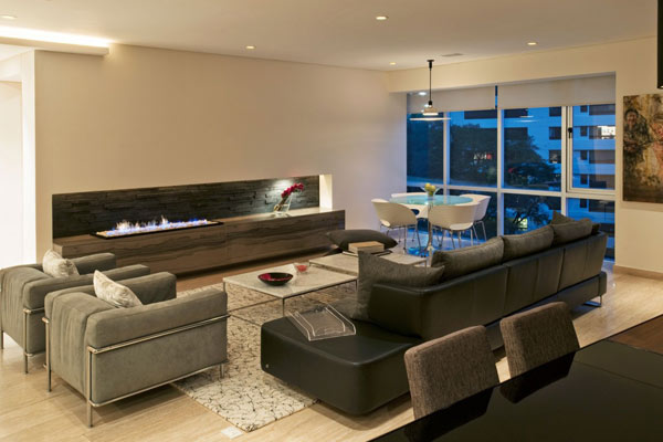 Casas minimalistas y modernas interiores armoni en mexico for Interior departamento