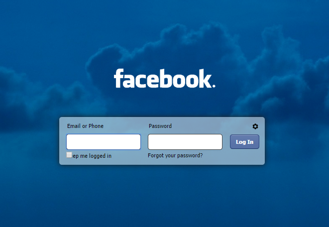 Change Refresh Facebook Homepage Login Screen