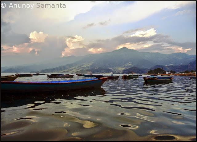 Phewa Lake and so many Boats