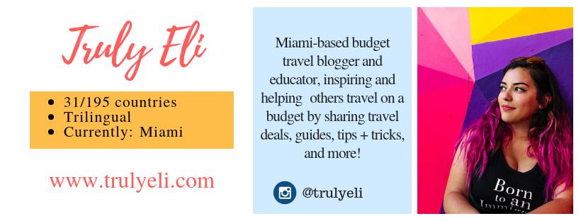 Truly Eli, Budget Travel Blogger