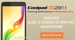 Coolpad Dazen1 Mobile Rs. 6999 + 3 Lucky Winners – SnapDeal