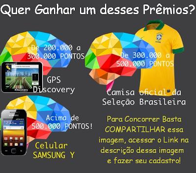 SORTEIO - GPS Discovery, SAMSUNG Y, Camisa Oficial Seleção Brasileira