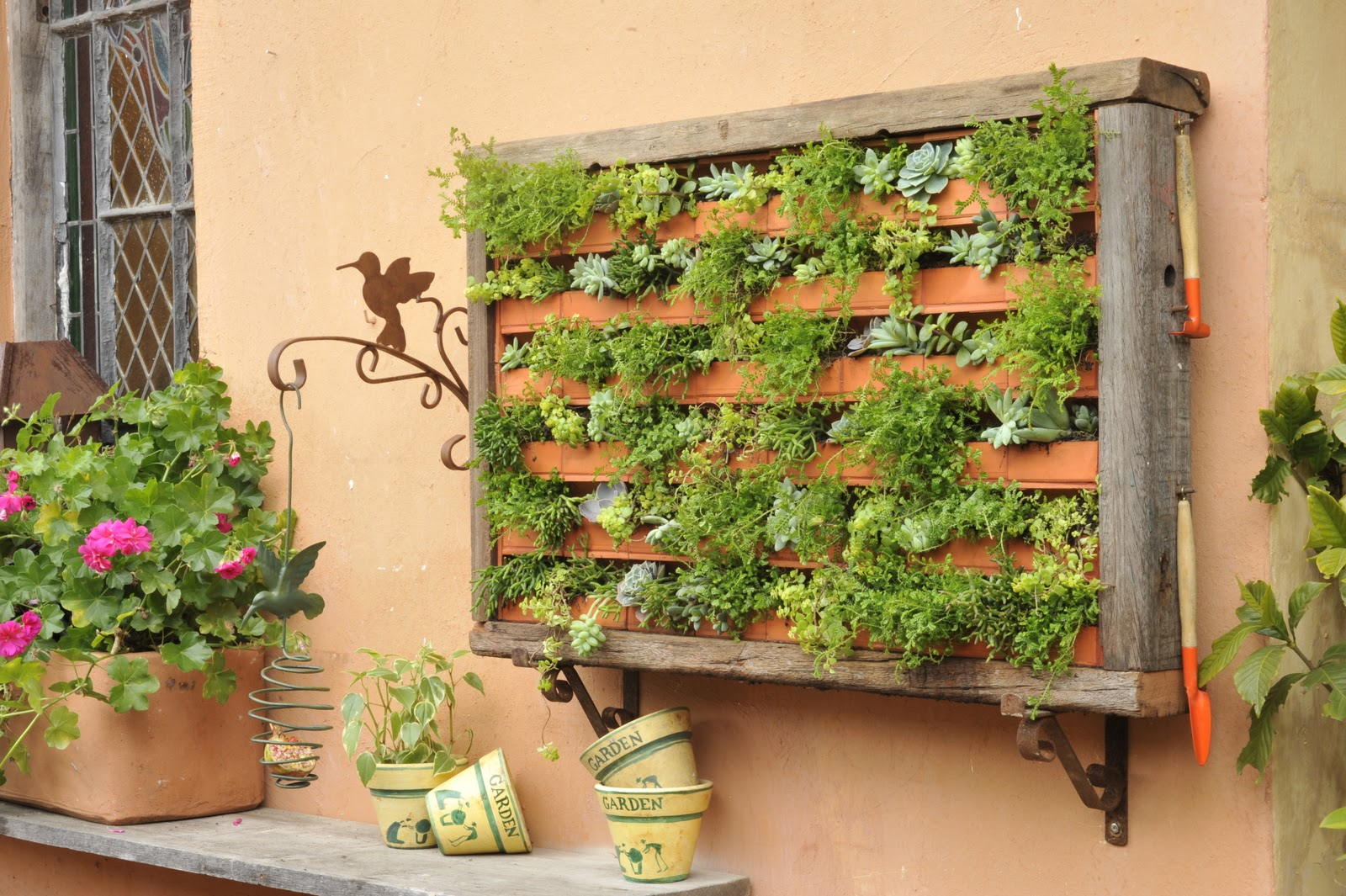 mini jardim vertical : mini jardim vertical:LA CALLE FLORIDA: Mini Jardim Vertical !!!