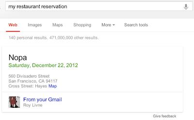 Gmail Restaurant Reservation