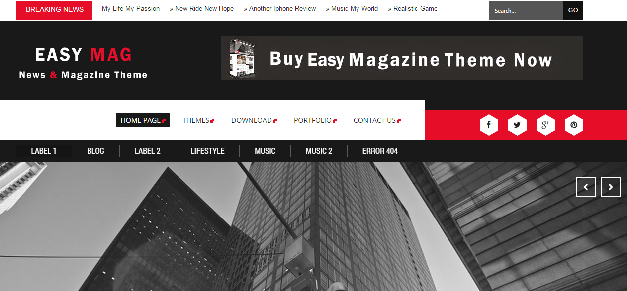 Download Easy Mag Responsive Blogger Template