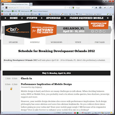 Screen shot of http://bdconf.com/2012/orlando/schedule.