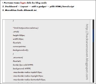 Cara membuat scrollbox pada postingan atau widget blog