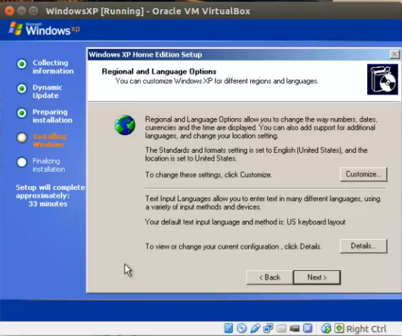 register windows xp virtualbox