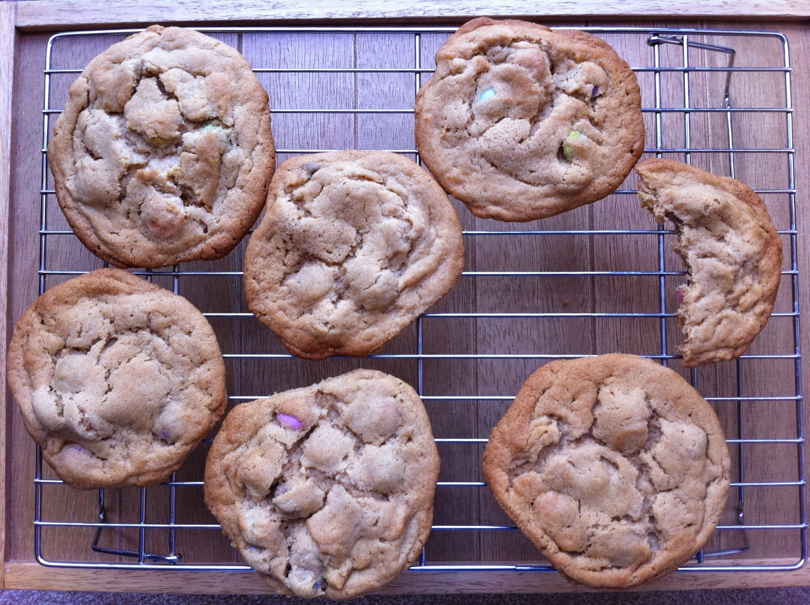 Cookies cooling on a wire rack