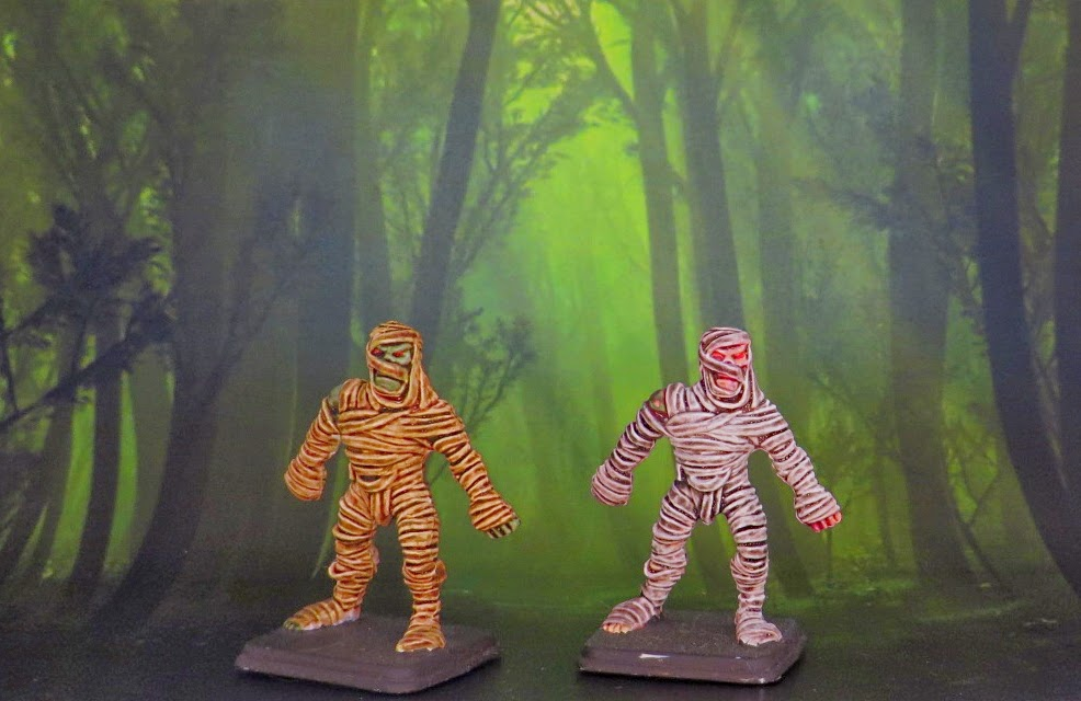 Heroquest, Games Workshop, boardgame, zombie, mummy, skeleton, sorcerer, warrior, painted