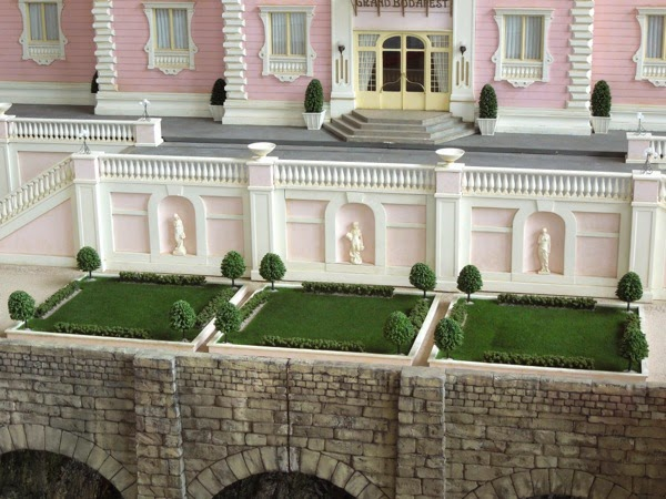Grand Budapest Hotel movie model gardens