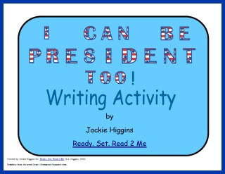 President craft,  election for kids, the election for kids, books about presidents, writing lesson plan