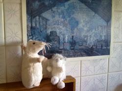 Claude Monet, contemplado por dois amigos