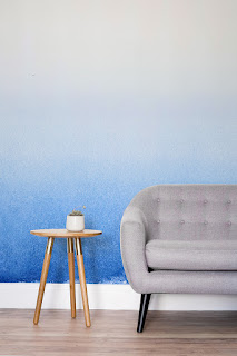 Blue ombre wall paper