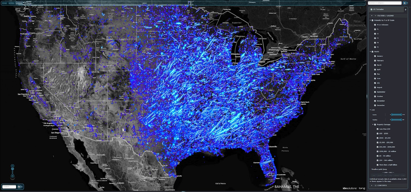 UXBlog IDV Solutions User Experience Interactive Tornado - Tornado maps in us