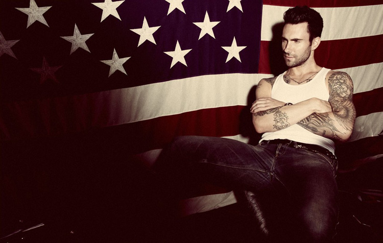 adam levine, editorial, american flag