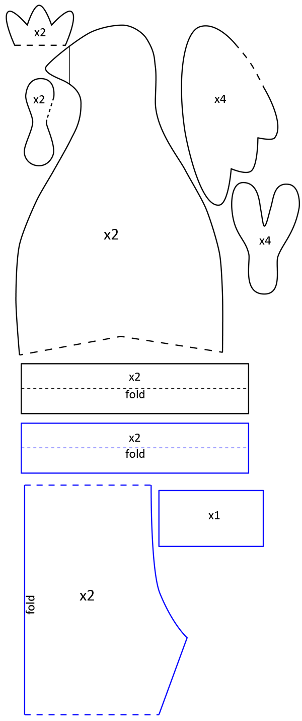 tilda hen pattern printable tone finnanger