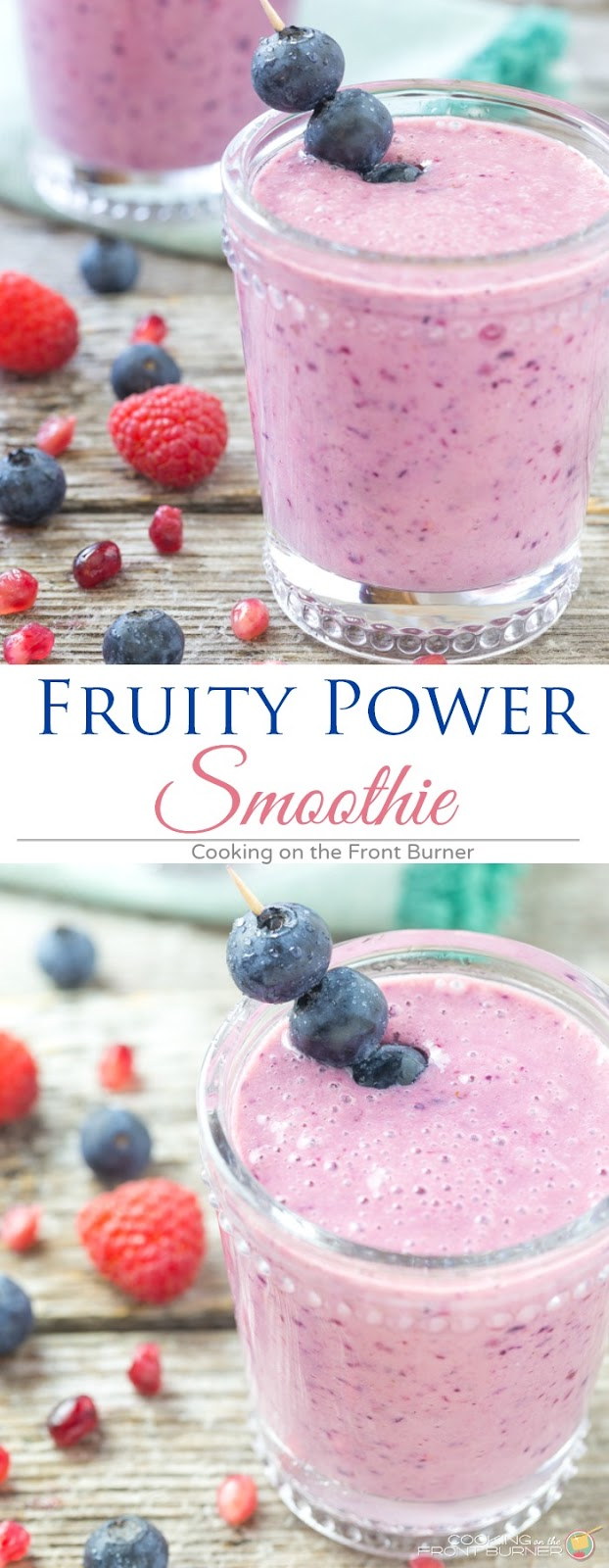 Fruity Power Smoothie | Cooking on the Front Buurner