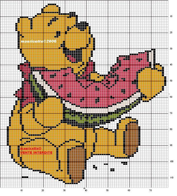 Schemi punto croce per bavaglini e copertine for Punto croce disney winnie the pooh